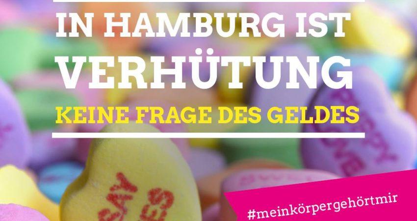 Sexuelle Selbstbestimmung für alle. In Hamburg ist Verhütung keine Frage des Geldbeutels. #meinkörpergehörtmir