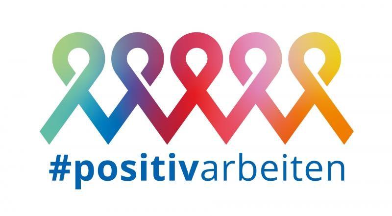 Das Logo der Kampagne #positvarbeiten.